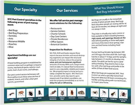 8 Best Images Of Pest Control Flyer Design Pest Control Brochure Template Pest Control Flyers Pest Brochure Template