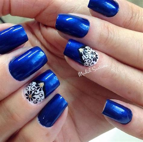 Nail Designs Blue And Silver