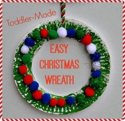 paper plate wreath christmas crafts pinterest