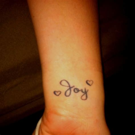 Joy Tattoo On Wrist | 12 joy wrist tattoos