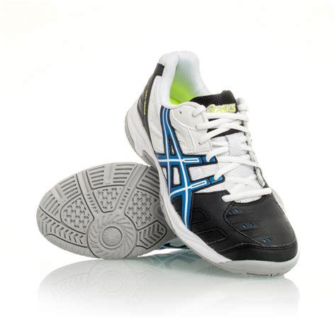 asics gel 4 gs boys tennis shoe white black