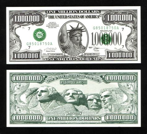 million dollar bill print out pictures to pin on pinterest