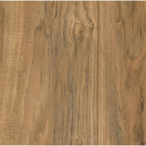 wood or laminate trafficmaster lakeshore pecan 7 mm thick x 7 2 3 in wide