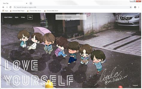 bts chibi hd wallpapers  tab themes hd wallpapers