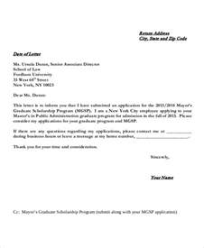 scholarship application letters 8 free word pdf