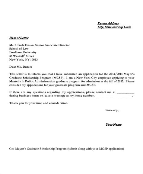 application letter for government scholarship scholarship application letters 8 free word pdf
