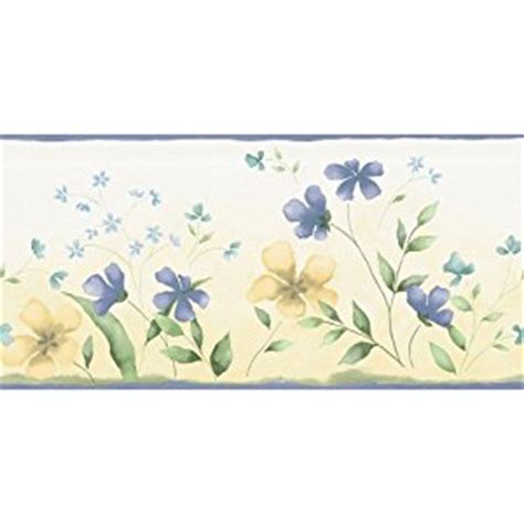 waverly 5500652 fresh picked wall border blue and yellow 10 2 inch wide wallpaper borders