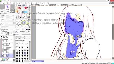 tutorial gambar di paint tool sai tutorial paint tool sai tutorial mewarnai anime di paint
