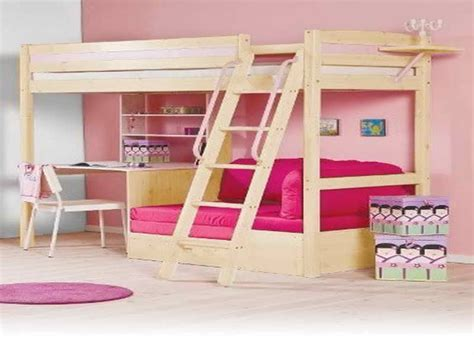 bunk bed with table underneath bunk bed with desk underneath car interior design