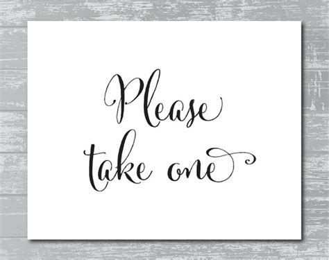 8 best images of take one sign printable free please