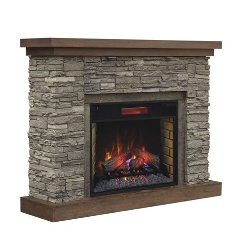 shop chimney free 54 in w 5200 btu brown ash wood veneer