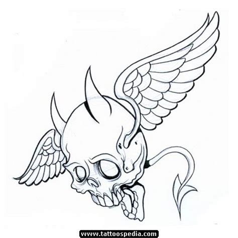 skull with wings tattoo designs 14 designs and ideas
