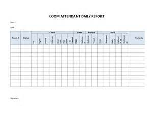 Daily Report Template Word hotel room attendant daily report freewordtemplates net