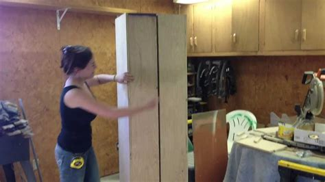 Garage Shop Plans by Diy Rolling Storage Cabinet Youtube