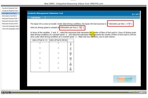 Ir Section Gmat by Gmat Integrated Reasoning Test Fast Learning Gmat Pill