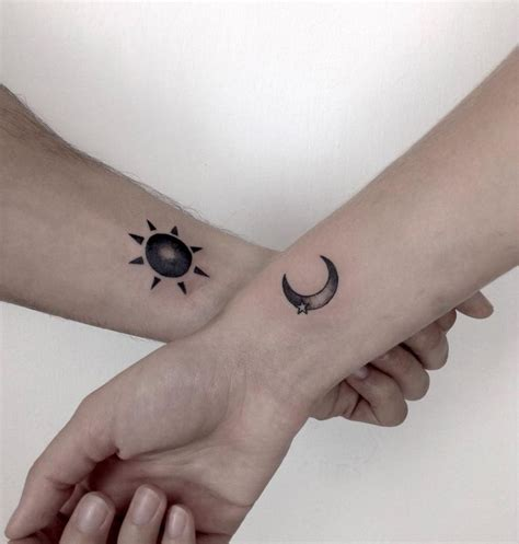 sun and moon couple tattoos 65 amazing sun and moon designs for the couples