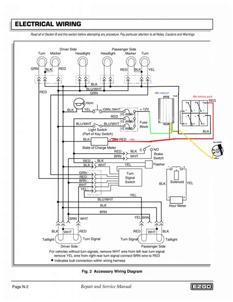 ezgo wiring diagram lights wiring diagram manual