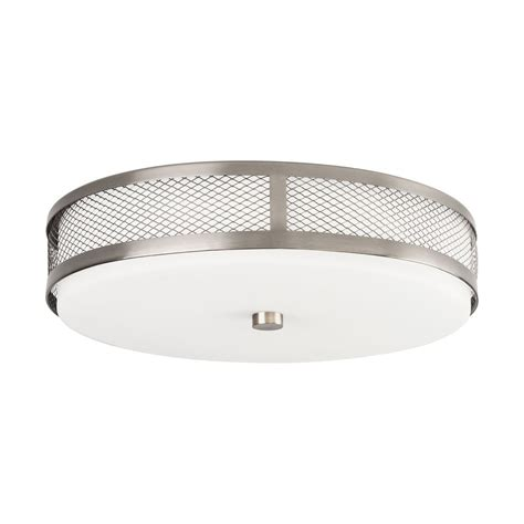 shop kichler 13 25 in w brushed nickel flush mount light at lowes shop kichler 13 25 in w brushed nickel led flush mount light at lowes