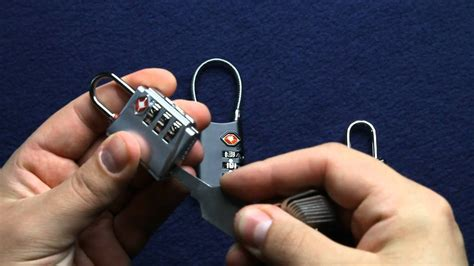 how to open tsa luggage locks youtube