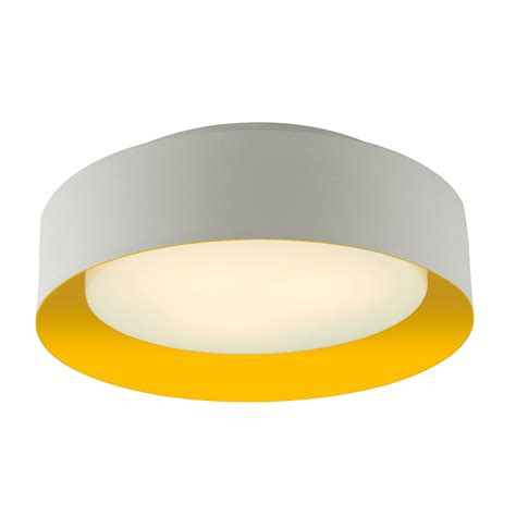 Lynch White Yellow Flush Mount Ceiling Light Bromi Design Yellow Ceiling Lights