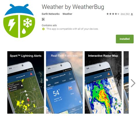 weatherbug app for android best weather apps for android to and store up for summer tech tip trick