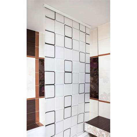 eco shower curtain black and white quality shower curtain blind