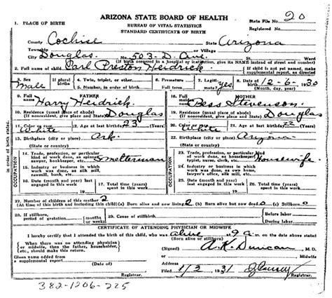 full birth certificate preston scrapbook generated by ancestral quest