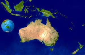 satellite map large detailed satellite map of australia and oceania