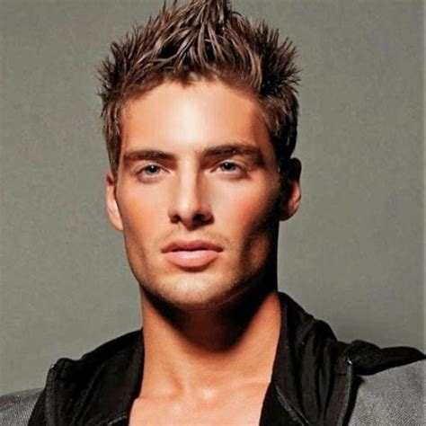mens hairstyles spiked top great hairstyles for with thick hair