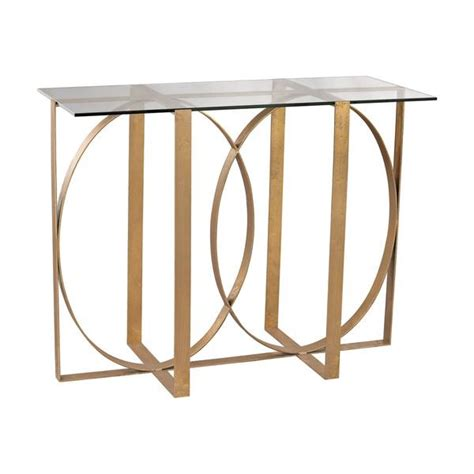 all glass table ls ls dimond home box rings entry table in gold