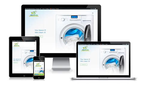 laundry web design cedargreen coin laundry dry clean blue tide website