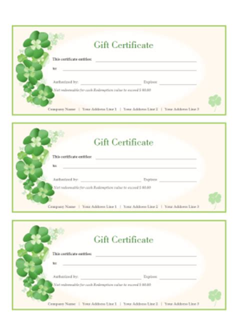 gift certificate template powerpoint unique kids gift certificate