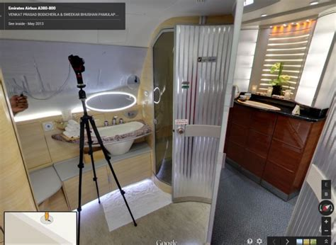emirates a380 bathroom is google street view the next best thing to a trip report one mile at a time