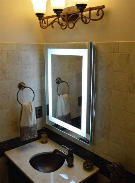 lighted bathroom vanity mirrors wall lights design great creation wall mounted lighted