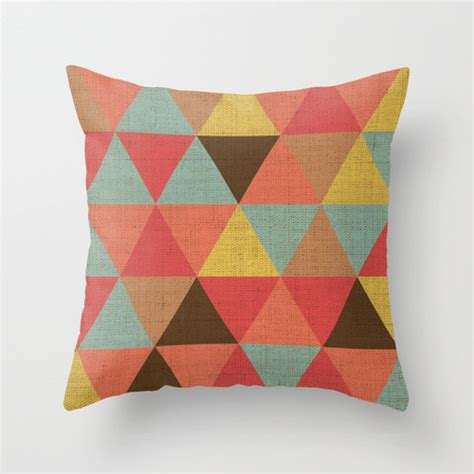 Triangle Pillows triangle pattern throw pillow by hofstetter