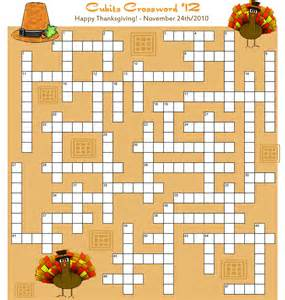 printable thanksgiving crossword puzzles pics photos online thanksgiving crossword puzzle