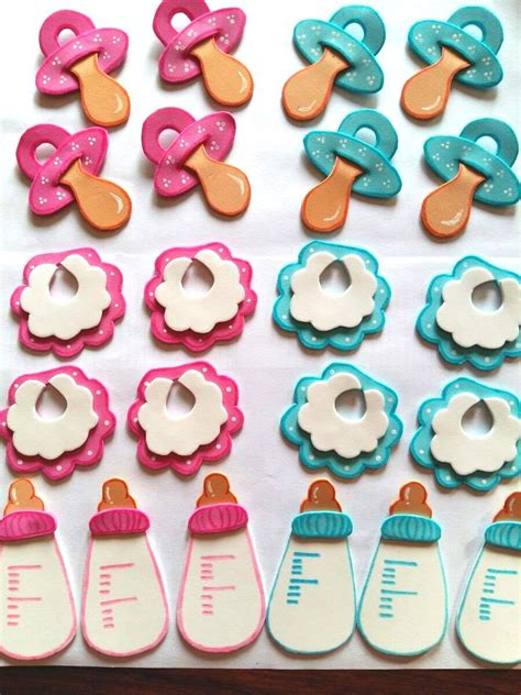 ideas para un baby shower centros de mesa para baby shower embarazo10