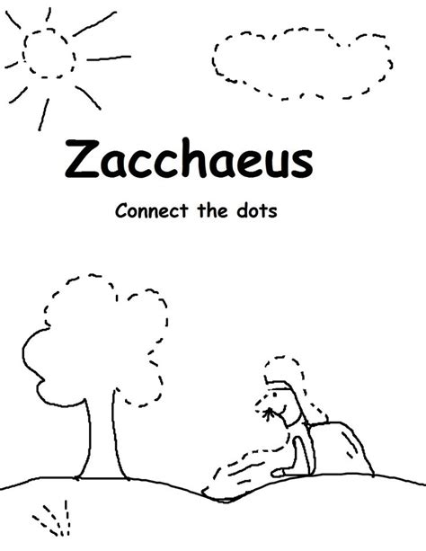 the story of zacchaeus worksheet s day crafts for children suitable for bible lessons or in sunday school description
