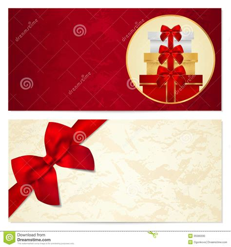 gift card design template free gift certificate voucher coupon template bow stock