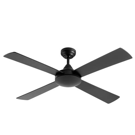 arlec 122cm 4 blade matte black ceiling fan bunnings
