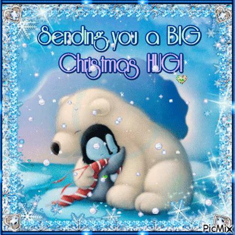sending   big christmas hug hug winter christmas merry christmas snowman santa happy