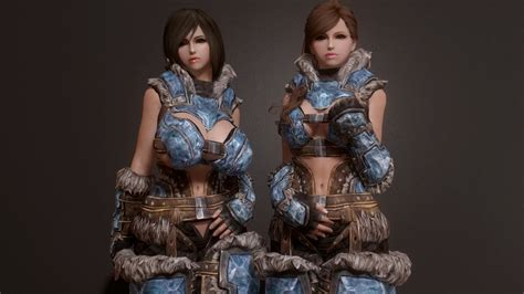 brand new light stalhrim armor for cbbe hdt bodyslide at skyrim nexus brand new light stalhrim armor sky tm