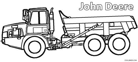 john deere tractor pages printable coloring pages