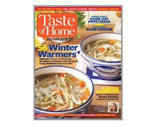free subscription to taste of home magazine free product
