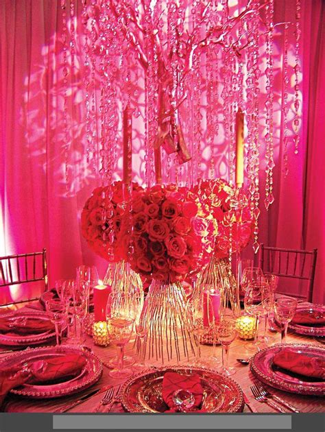 red decor recently most demanding red pink wedding decoration