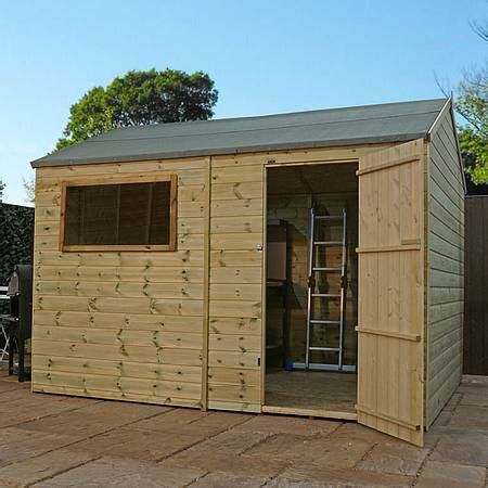 12ft x 8ft waltons shiplap pressure treated apex wooden garden shed waltons sheds