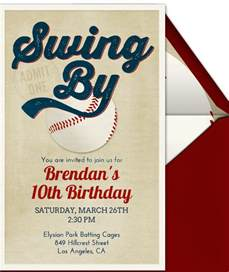 21 baseball birthday invitation templates free sample