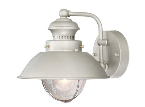 Brushed Nickel Outdoor Light Fixtures 1 Light Vaxcel Harwich Brushed Nickel Outdoor Wall Sconce Sale Fixture Ow21593bn Ebay