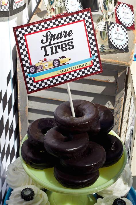 Race Car Themed Baby Shower by Kara S Ideas Vintage Race Car Themed Birthday