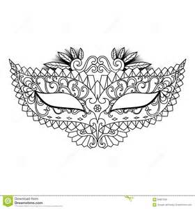 mardi gras carnival mask for coloring book and other